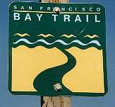 Bay Trail sign along trail in Fremont