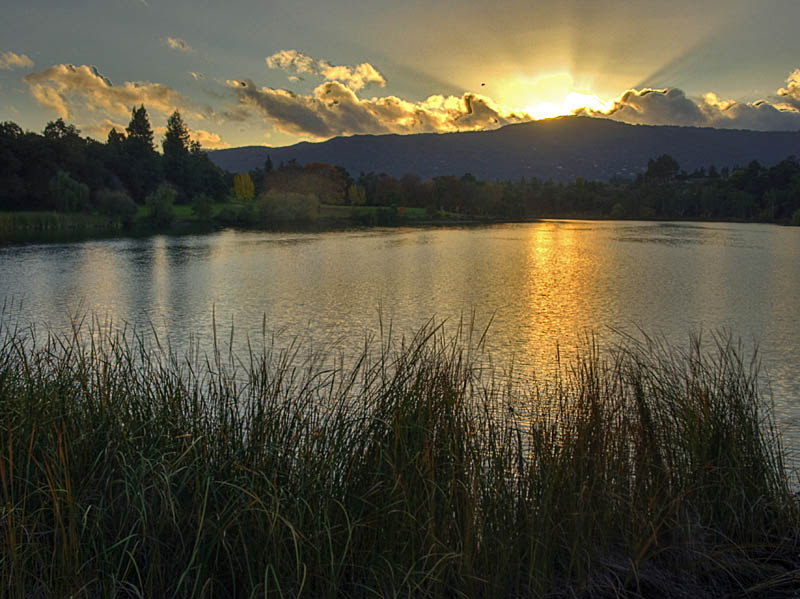 Sunset on Vasona Lake