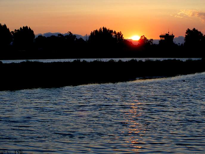 Palo Alto Baylands, Airport Sunset
