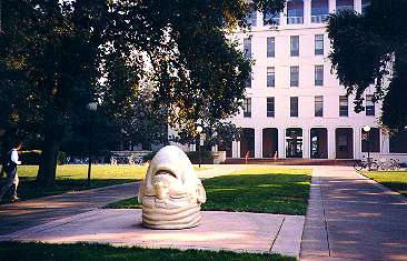 Egghead sculpture at UC Davis, photo by Chris Horii