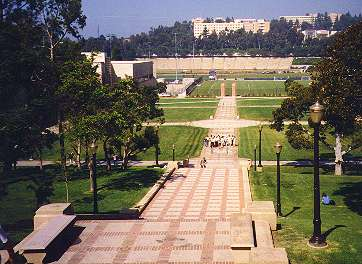 UCLA looking towards stadium and dorms